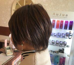 ボスでスッキリな印象のショートヘアの女性